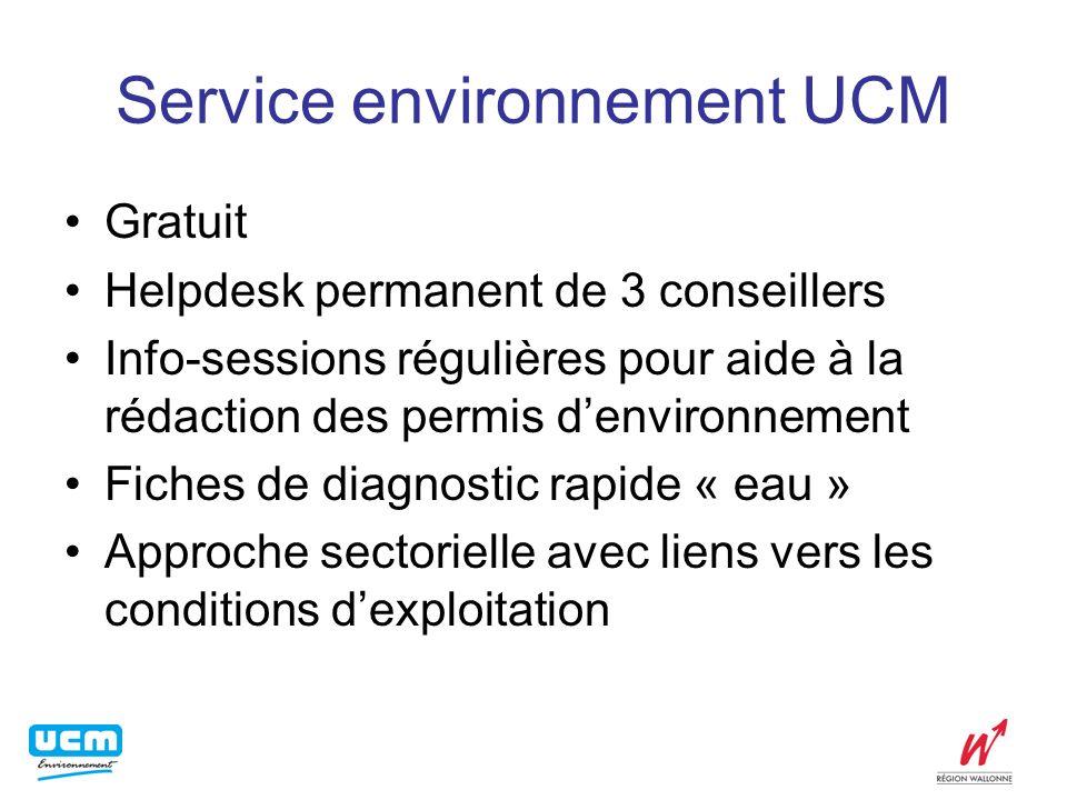 Service environnement UCM