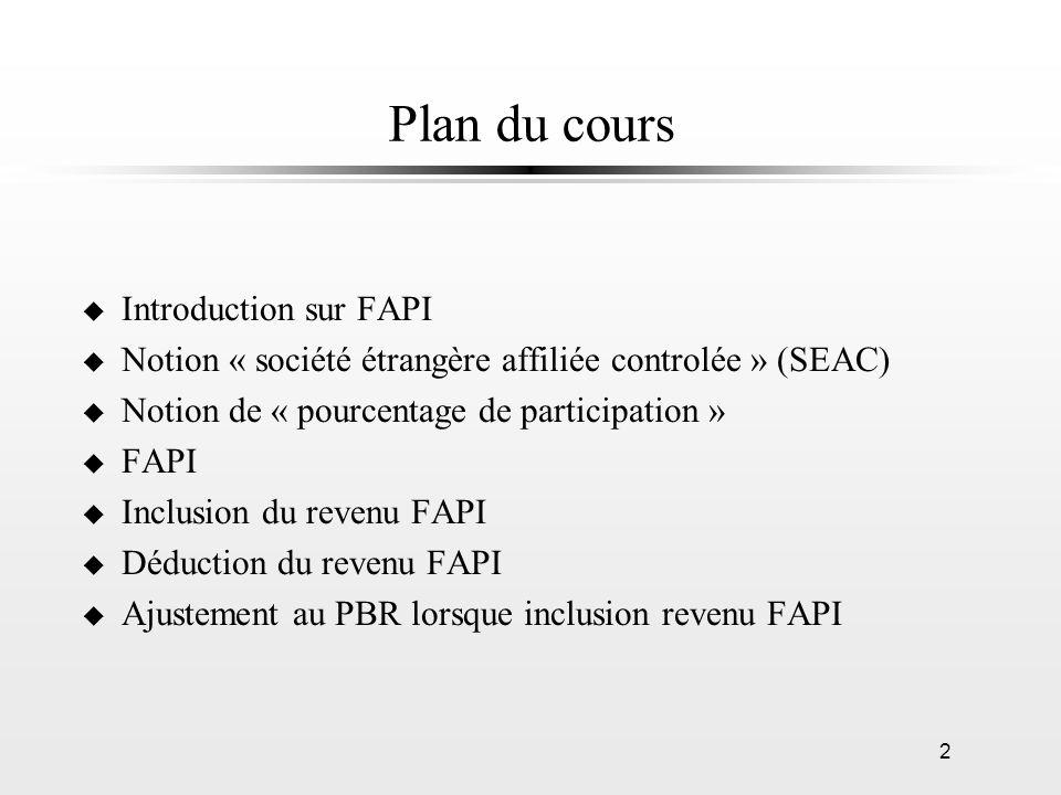 Plan du cours Introduction sur FAPI