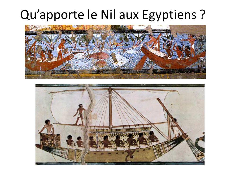 Qu'apporte le Nil aux Egyptiens