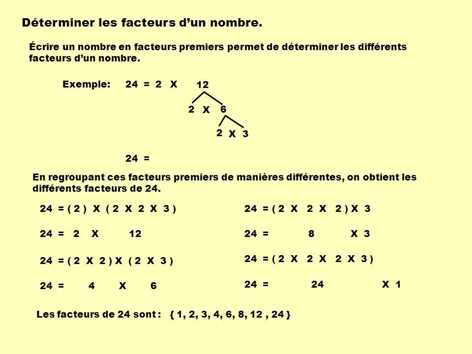 Déterminer les facteurs d'un nombre.