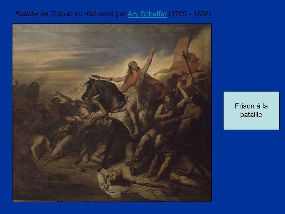 Bataille de Tolbiac en 496 peint par Ary Scheffer (1795 - 1858).