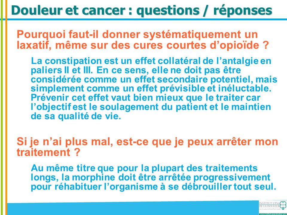 Douleur et cancer : questions / réponses