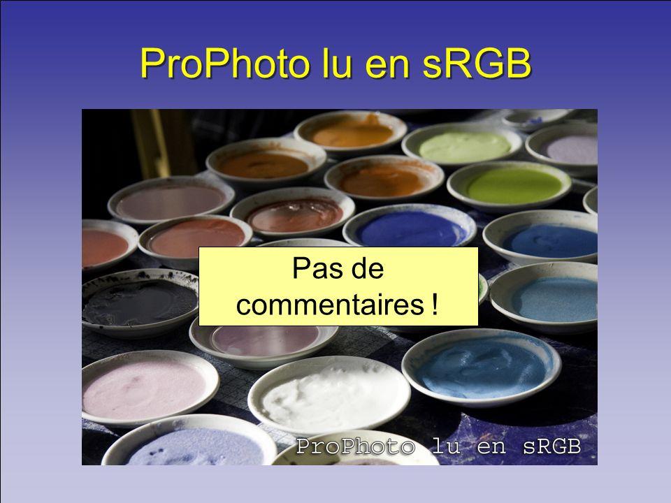 ProPhoto lu en sRGB Pas de commentaires !