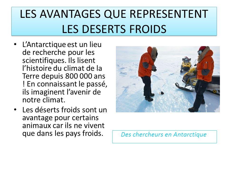 LES AVANTAGES QUE REPRESENTENT LES DESERTS FROIDS