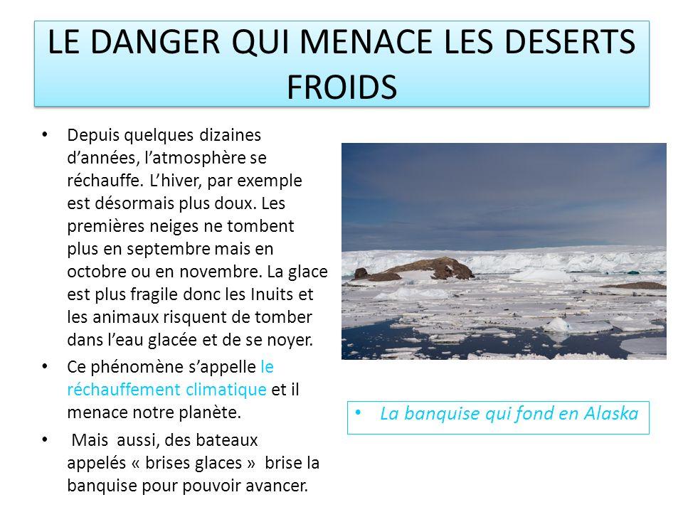 LE DANGER QUI MENACE LES DESERTS FROIDS