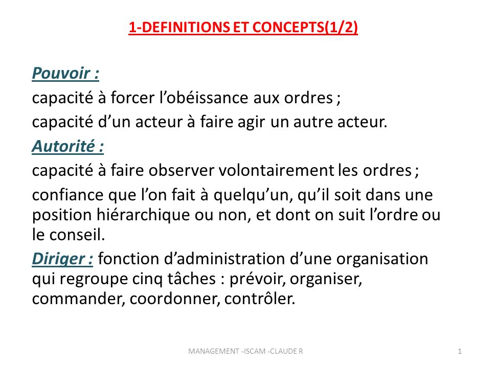 1-DEFINITIONS ET CONCEPTS(1/2)