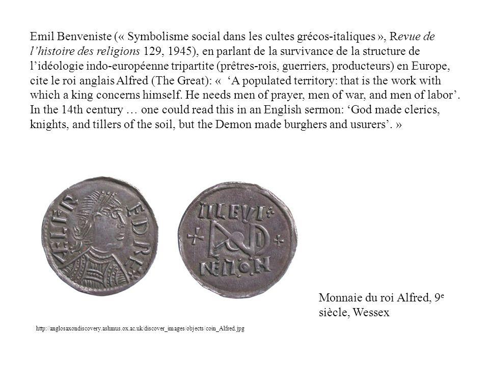 Monnaie du roi Alfred, 9e siècle, Wessex