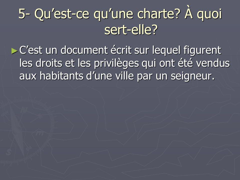 5- Qu'est-ce qu'une charte À quoi sert-elle
