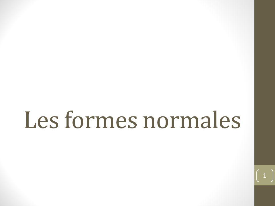 Les formes normales