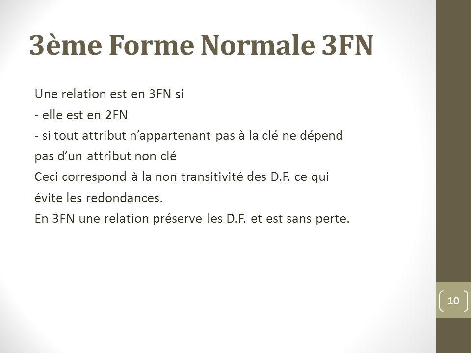 3ème Forme Normale 3FN