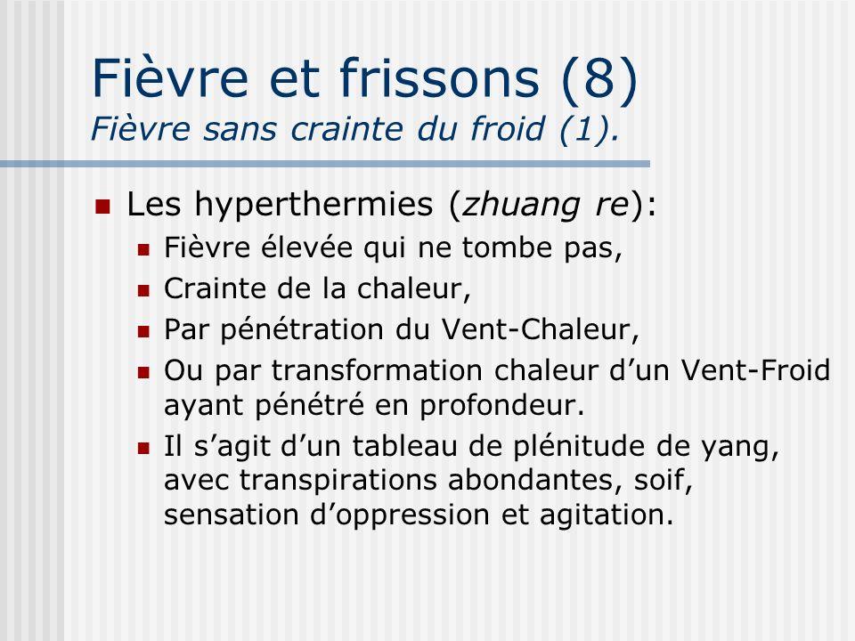Fièvre et frissons (8) Fièvre sans crainte du froid (1).