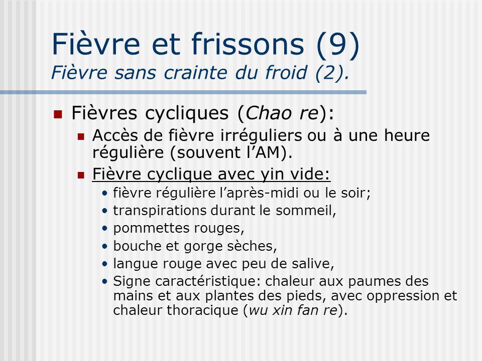Fièvre et frissons (9) Fièvre sans crainte du froid (2).