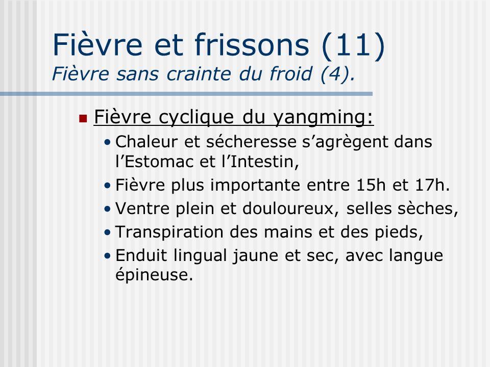 Fièvre et frissons (11) Fièvre sans crainte du froid (4).