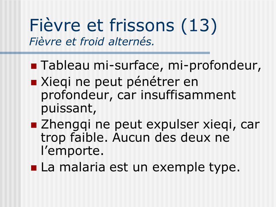 Fièvre et frissons (13) Fièvre et froid alternés.