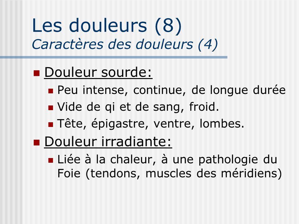 Les douleurs (8) Caractères des douleurs (4)