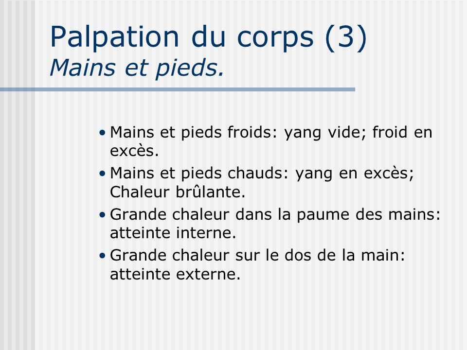 Palpation du corps (3) Mains et pieds.