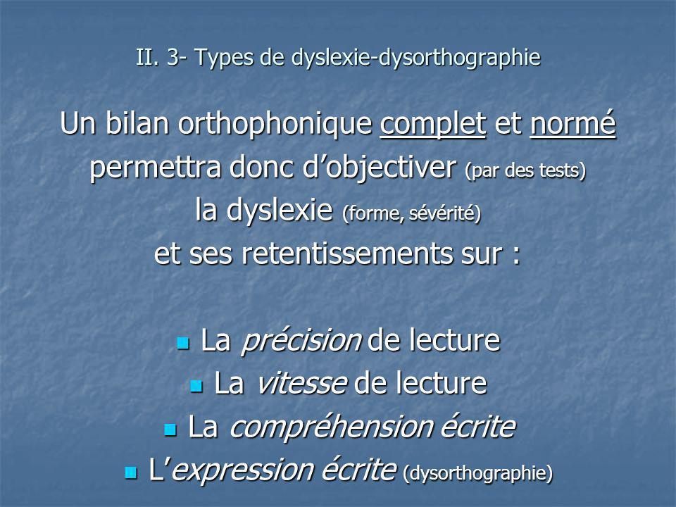 Un bilan orthophonique complet et normé