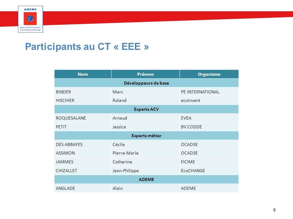 Participants au CT « EEE »