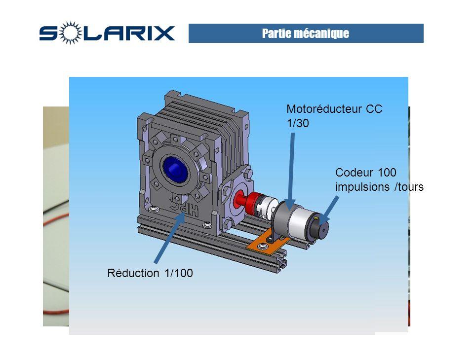 Partie mécanique Motoréducteur CC 1/30 Codeur 100 impulsions /tours Réduction 1/100