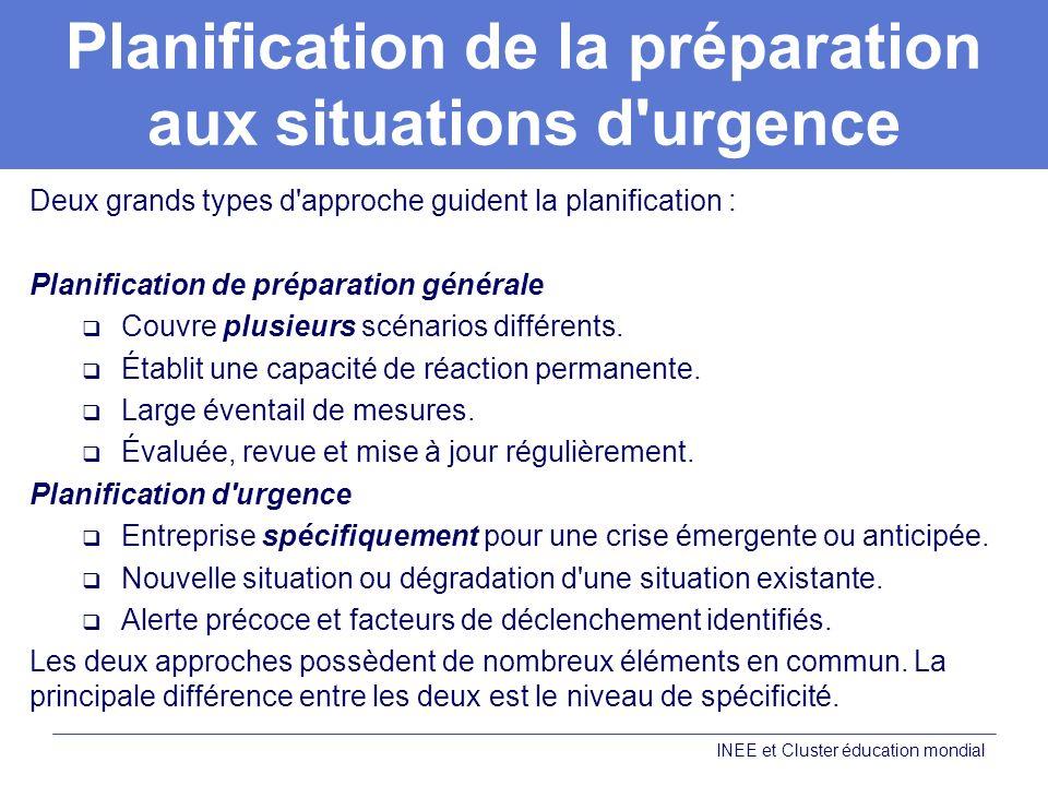 Planification de la préparation aux situations d urgence