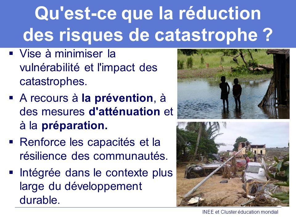 Qu est-ce que la réduction des risques de catastrophe