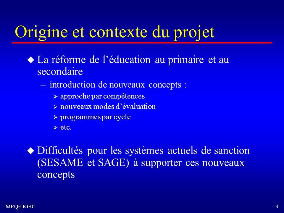 Origine et contexte du projet