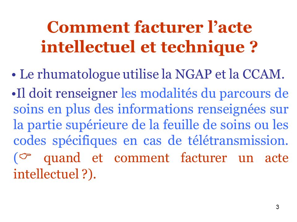 Comment facturer l'acte intellectuel et technique