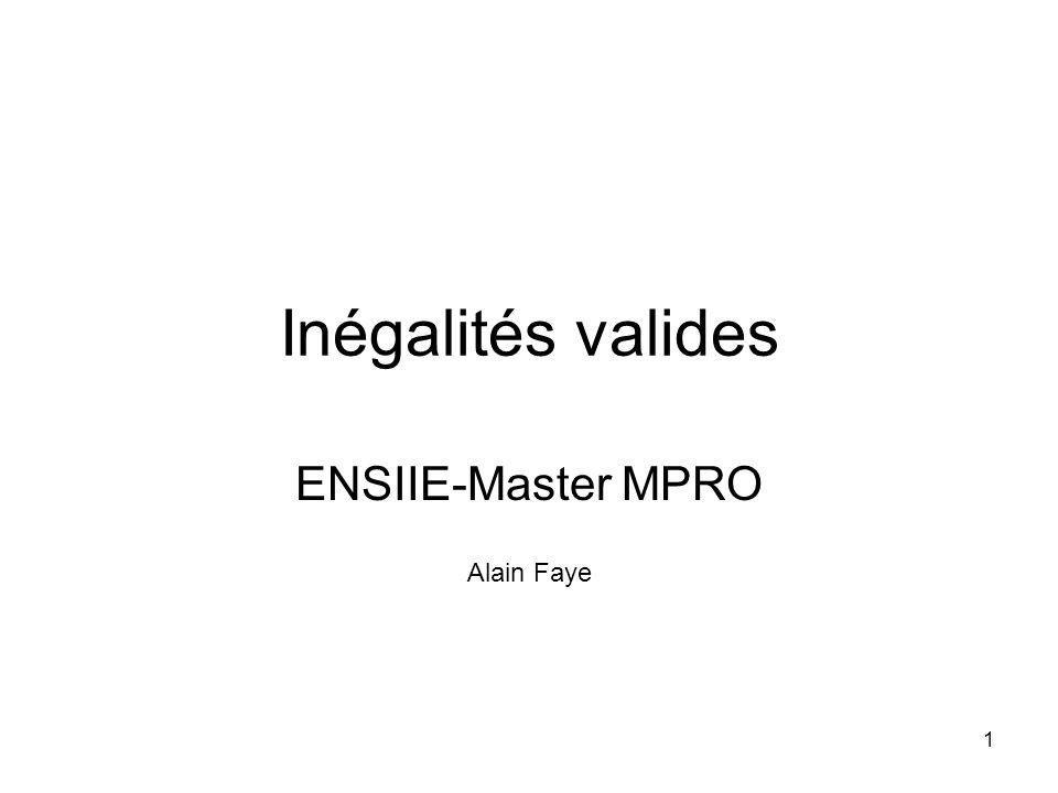 ENSIIE-Master MPRO Alain Faye