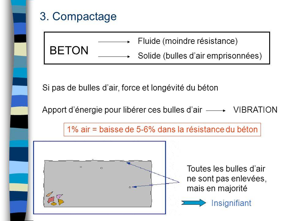 3. Compactage BETON Fluide (moindre résistance)