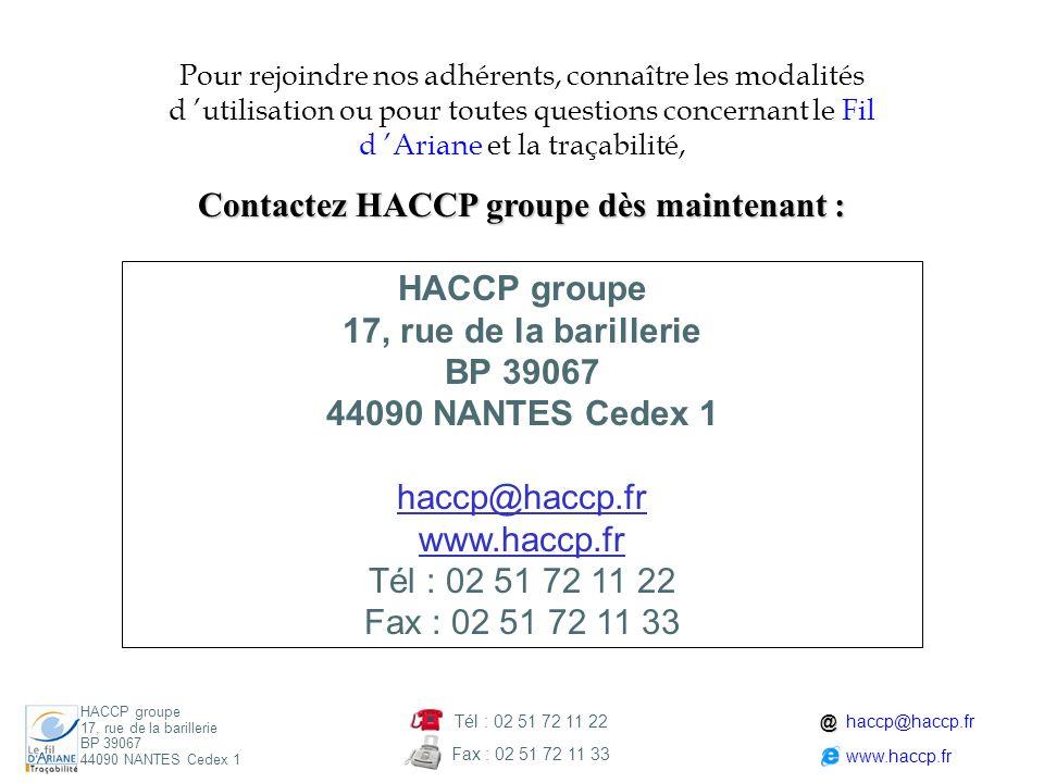 Contactez HACCP groupe dès maintenant :