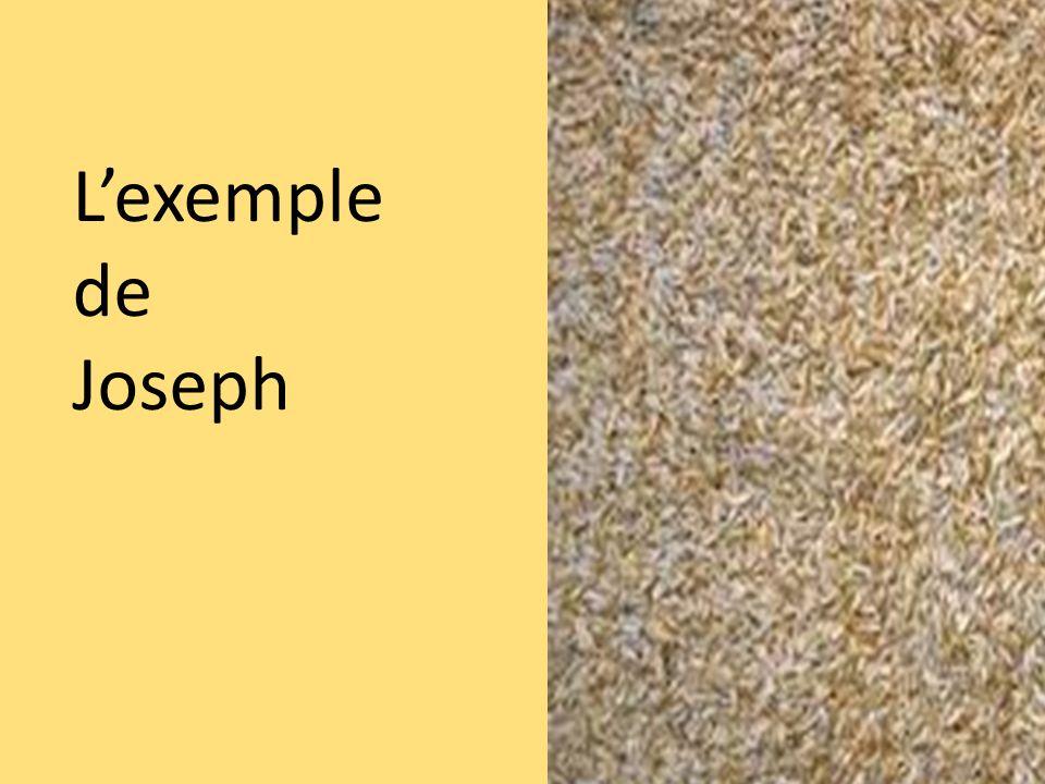 L'exemple de Joseph