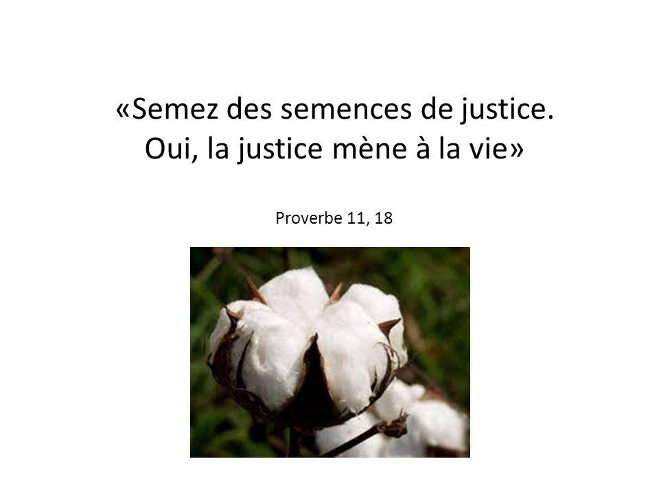 «Semez des semences de justice