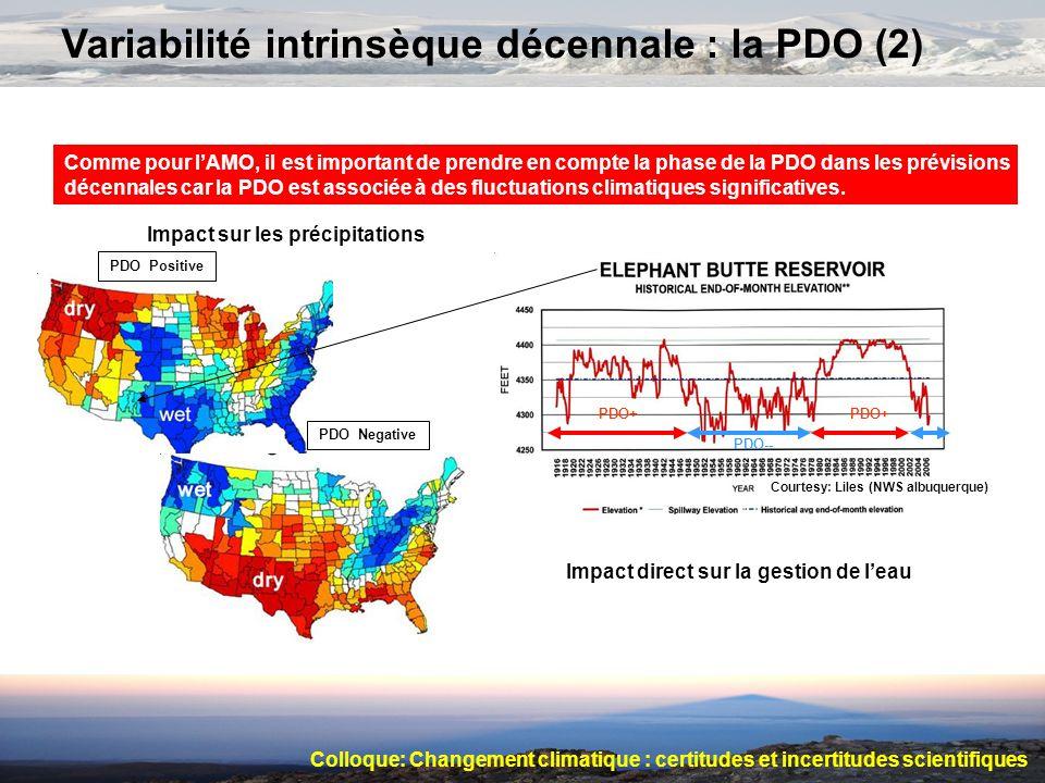 Variabilité intrinsèque décennale : la PDO (2)