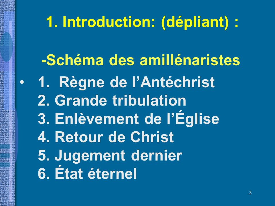 1. Introduction: (dépliant) :