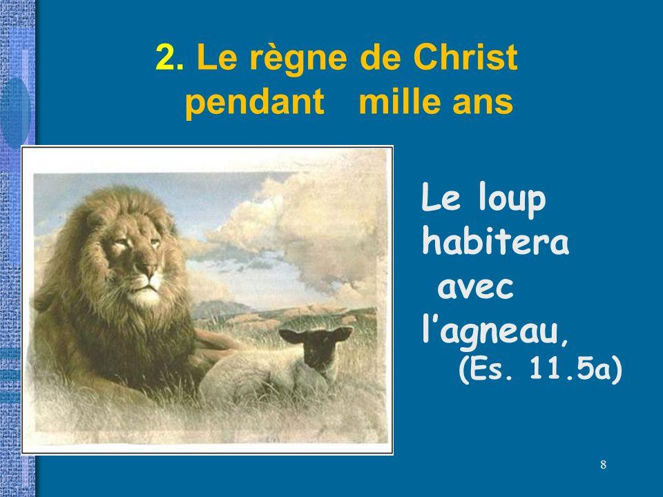 2. Le règne de Christ pendant mille ans