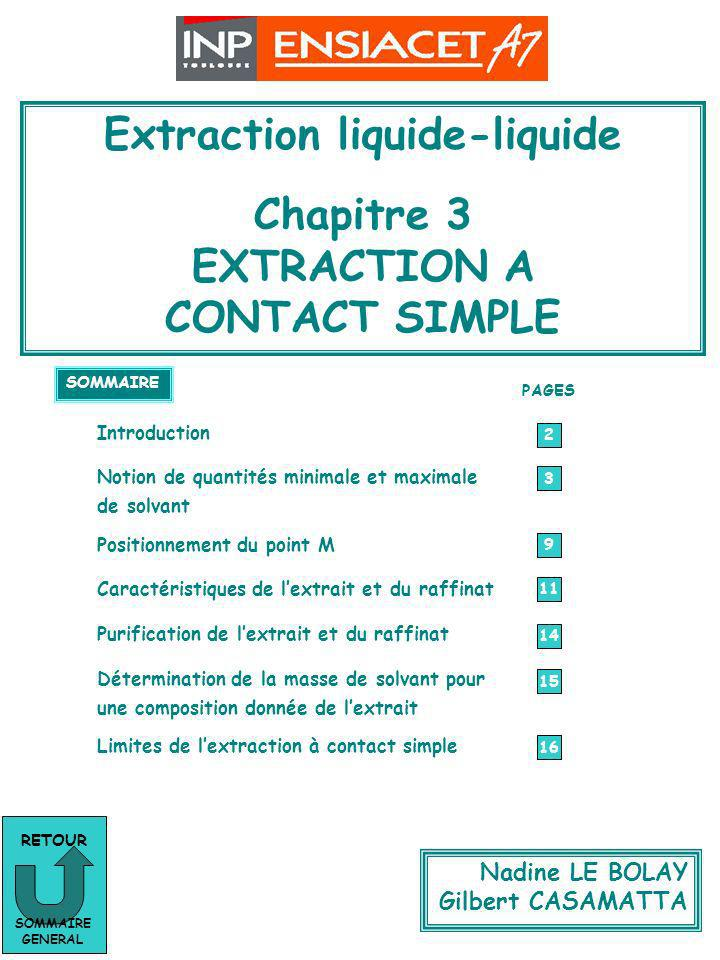 Chapitre 3 : Extraction à contact simple