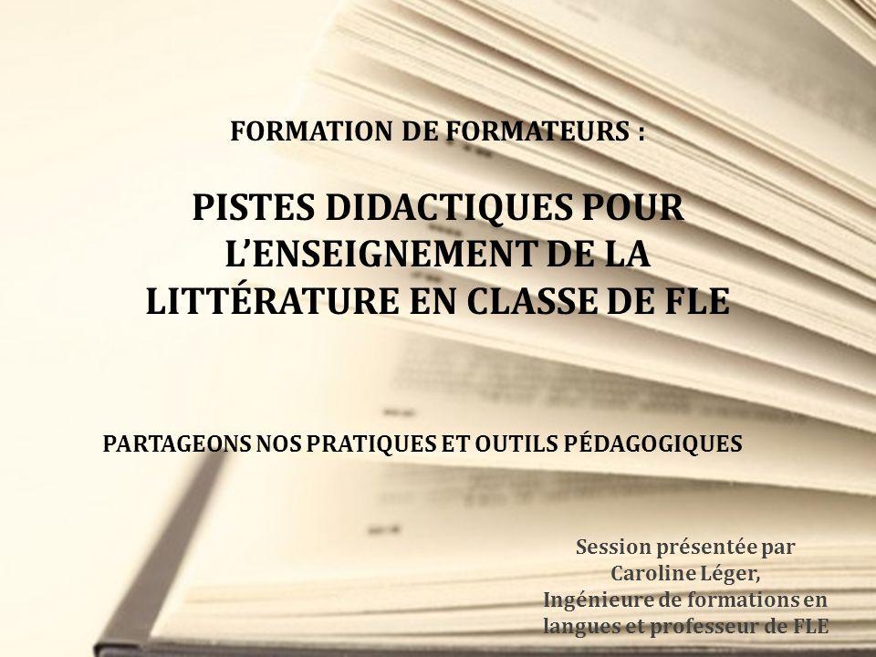FORMATION DE FORMATEURS :