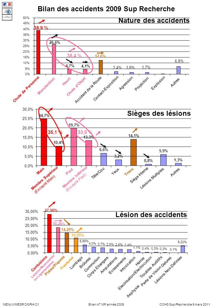 Bilan des accidents 2009 Sup Recherche