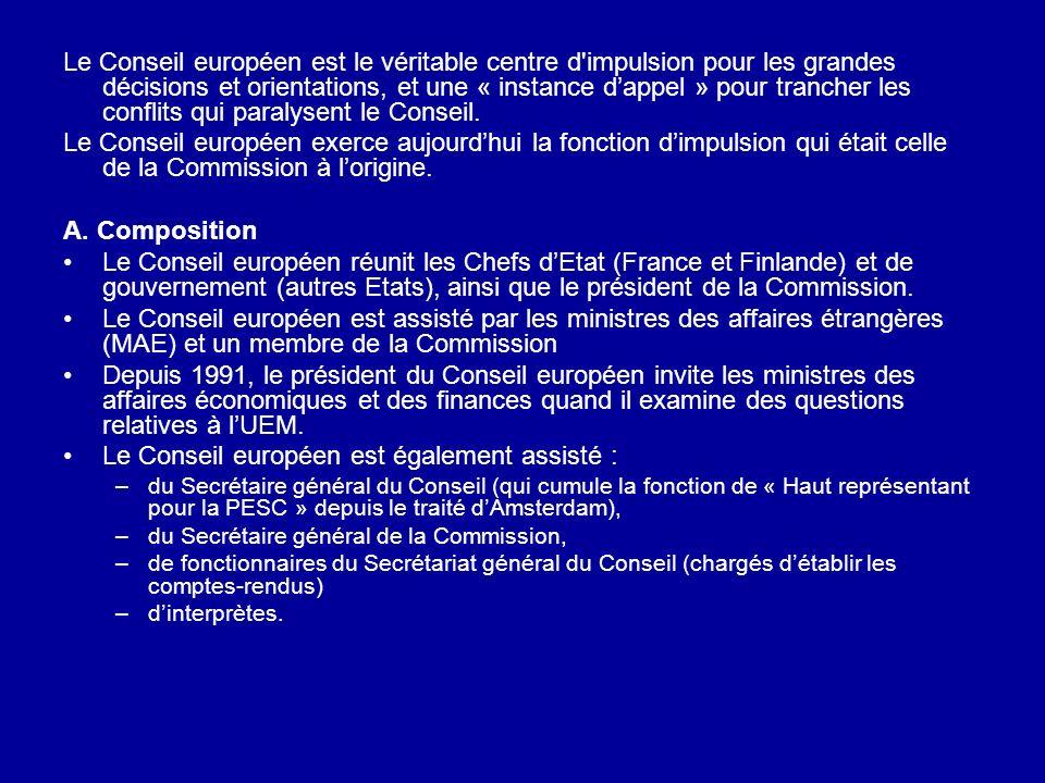 Le Conseil européen est également assisté :
