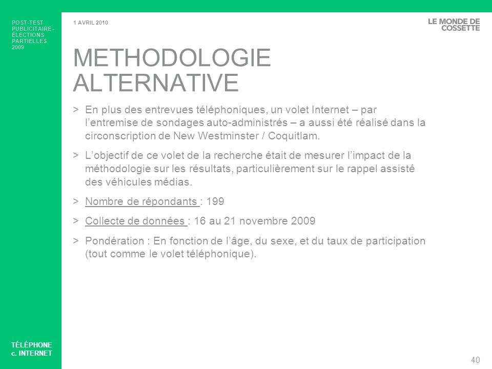METHODOLOGIE ALTERNATIVE
