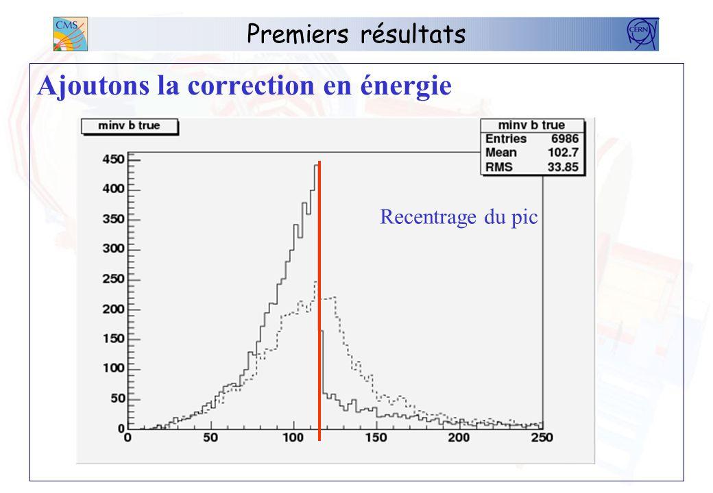 Ajoutons la correction en énergie