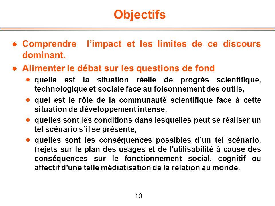 Objectifs Comprendre l'impact et les limites de ce discours dominant.