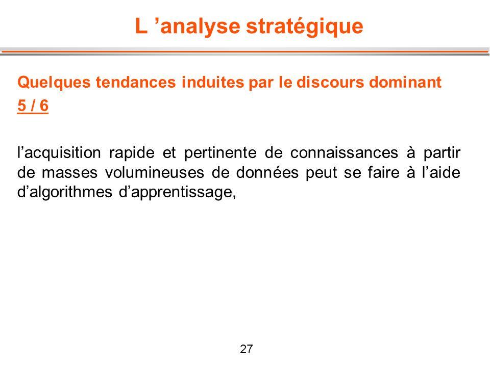L 'analyse stratégique