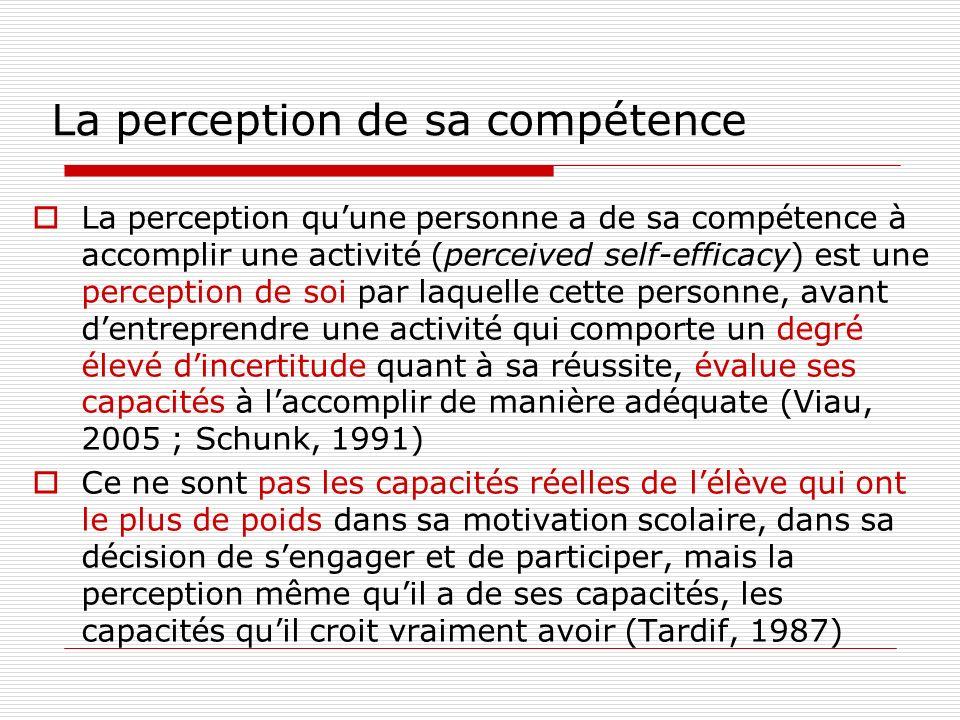 La perception de sa compétence