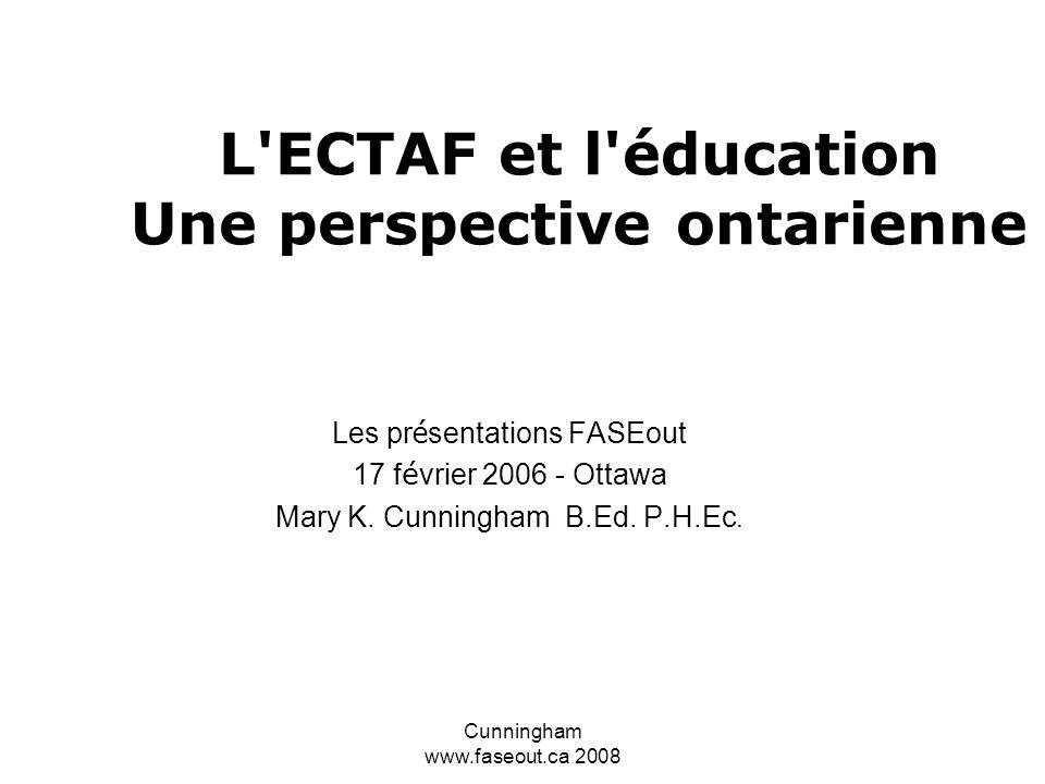 L ECTAF et l éducation Une perspective ontarienne
