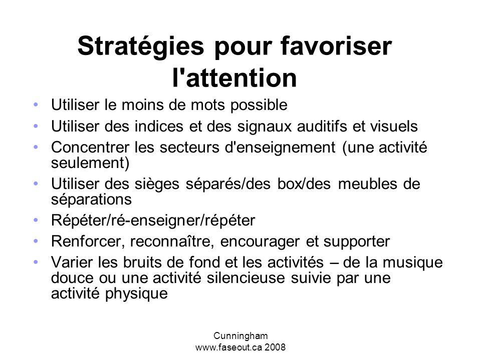 Stratégies pour favoriser l attention