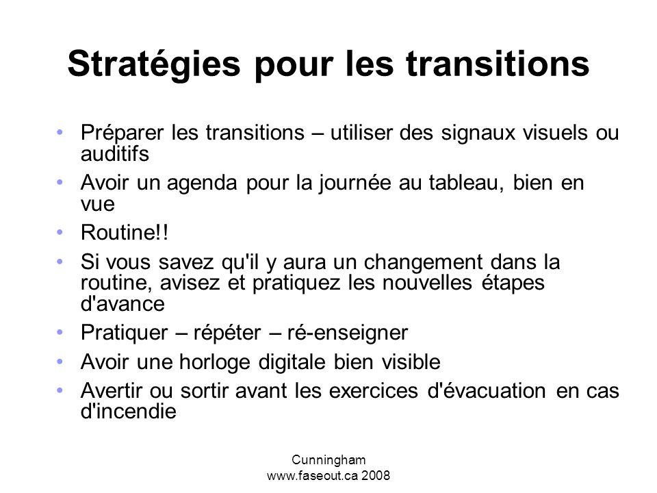 Stratégies pour les transitions