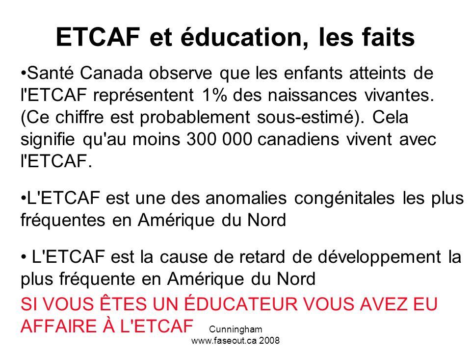 ETCAF et éducation, les faits