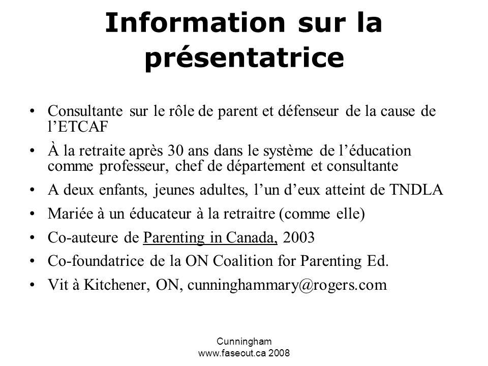 Information sur la présentatrice