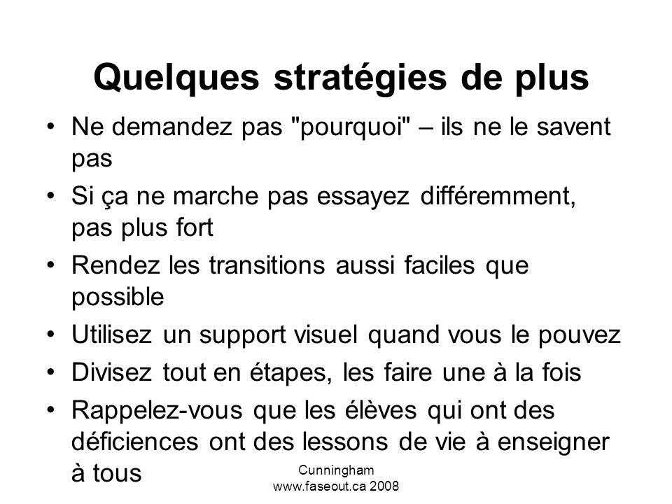 Quelques stratégies de plus